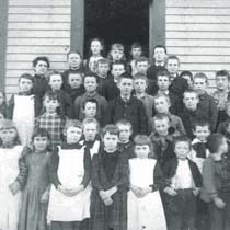 Class Photo, Center District School House, c1885